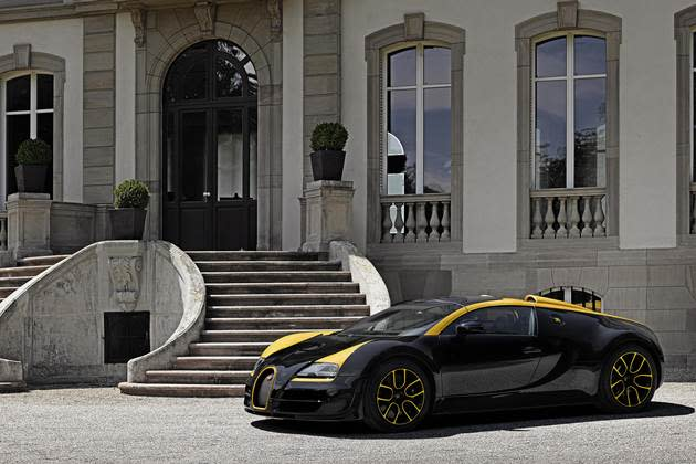 This car belongs to a Singaporean. Picture not taken in Singapore (obviously). (Photo credit: Bugatti)