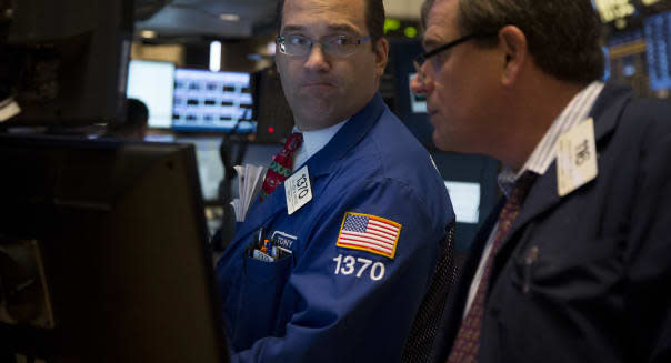 Trading On The Floor Of The NYSE As S&P 500 Falls Most In A Month On Federal Shutdown