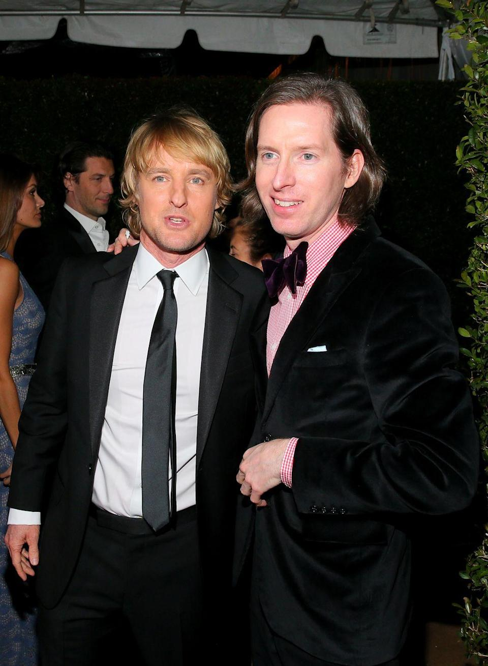 "<p>University of Texas alums Owen Wilson and Wes Anderson got into their fair share of trouble during the days on The Forty Acres. One especially hilarious adventure involved literally breaking into their shared Austin apartment—the incident would serve as the inspiration for Anderson's first feature film, <em>Bottle Rocket</em>. The dynamic duo's rapport stayed strong for years after college. ""I feel like that's as strong a friendship now as it's ever been,"" <a href=""https://www.laweekly.com/the-road-wes-traveled/"" rel=""nofollow noopener"" target=""_blank"" data-ylk=""slk:said"" class=""link rapid-noclick-resp"">said</a> the filmmaker of his connection with Wilson in 1999. ""And we still have several movies we want to do together.""</p>"