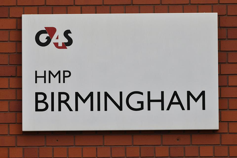 """A G4S sign outside HMP Birmingham, as it emerged the government is taking over the privately-run prison after an inspection uncovered """"appalling"""" squalor and violence and found staff asleep or locked in offices."""