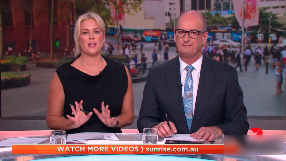Sam and Kochie are coming under fire from Sunrise fans. Photo: Seven