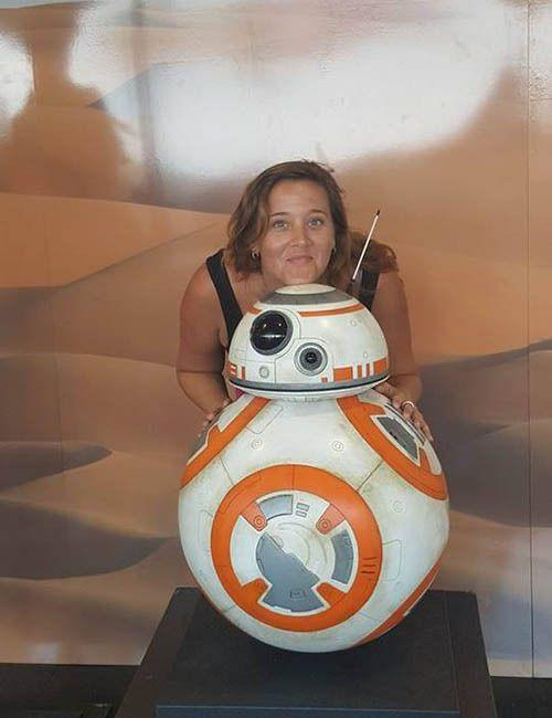 Just hanging out with BB-8. Photo: Allison Wallace