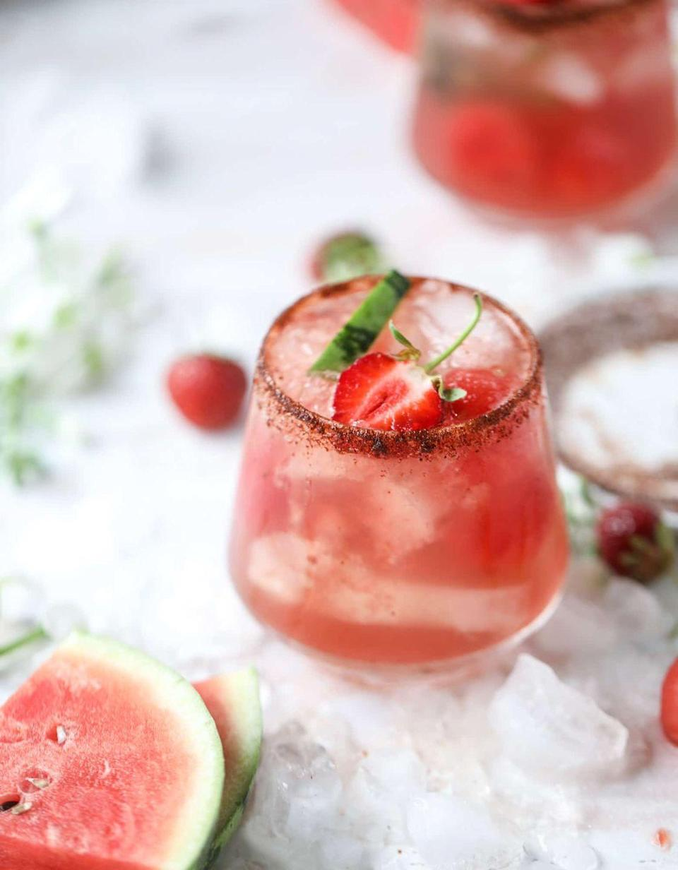 """<p>A single recipe of this sweet and spicy sipper yields enough for four people and is easy to scale for a crowd. </p><p>Get the recipe at <a href=""""https://www.howsweeteats.com/2018/06/watermelon-sangria/"""" rel=""""nofollow noopener"""" target=""""_blank"""" data-ylk=""""slk:How Sweet Eats"""" class=""""link rapid-noclick-resp"""">How Sweet Eats</a>. </p>"""
