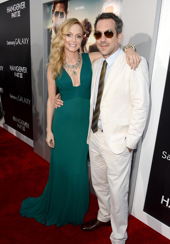 "WESTWOOD, CA - MAY 20:  Actress Heather Graham (L) and director Todd Phillips arrives at the premiere of Warner Bros. Pictures' ""Hangover Part 3"" on May 20, 2013 in Westwood, California.  (Photo by Kevin Winter/Getty Images)"
