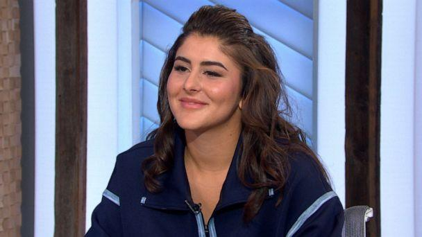 PHOTO: 2019 U.S. Open champion Bianca Andreescu speaks with Robin Roberts on 'Good Morning America,' Sept. 9, 2019. (ABC News)