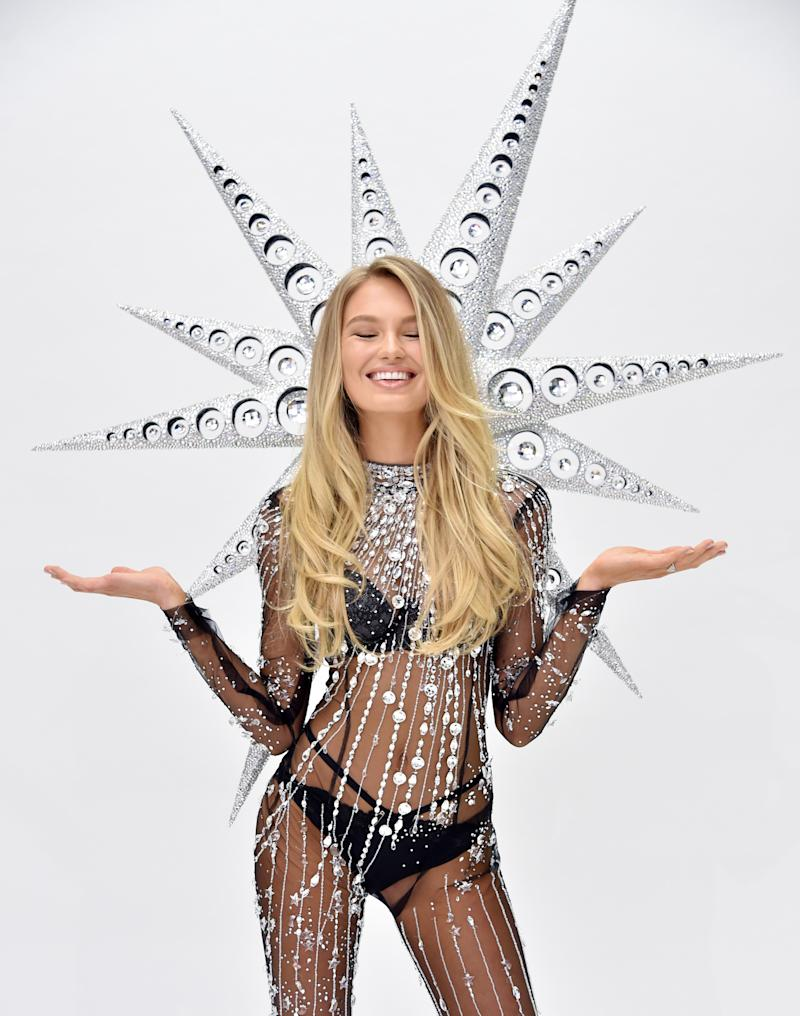 af8a84a49f EXCLUSIVE  Romee Strijd Unveils Victoria s Secret Fashion Show Swarovski  Look