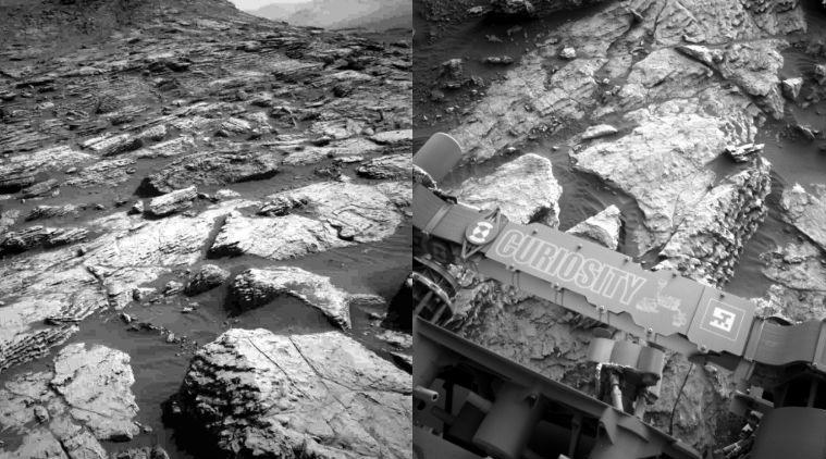 central butte, curiosity rover central butte images, nasa. mars, gale crater, central butte pictures