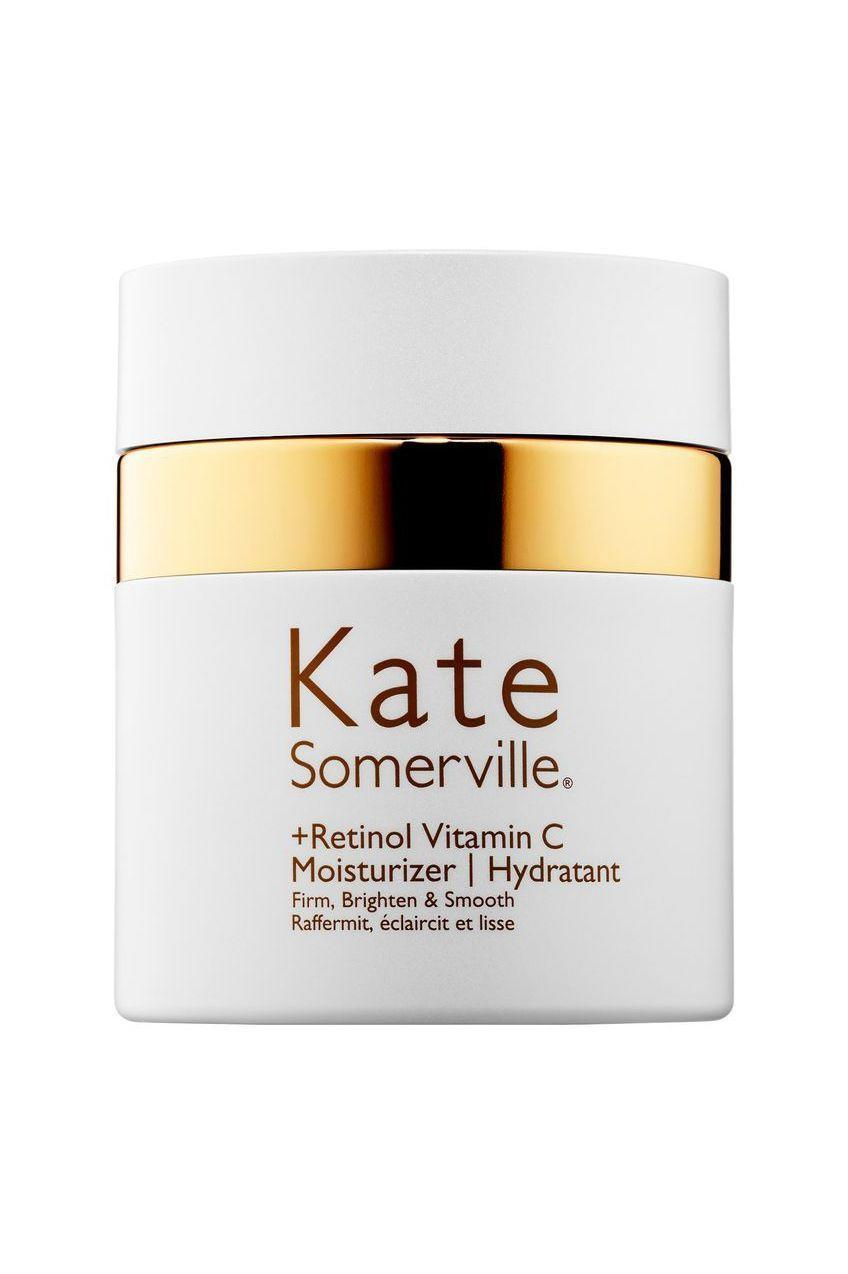 """<p><strong>Kate Somerville</strong></p><p>sephora.com</p><p><strong>$90.00</strong></p><p><a href=""""https://go.redirectingat.com?id=74968X1596630&url=https%3A%2F%2Fwww.sephora.com%2Fproduct%2Fretinol-vitamin-c-moisturizer-P448932&sref=https%3A%2F%2Fwww.marieclaire.com%2Fbeauty%2Fg33597196%2Fbest-retinol-creams%2F"""" rel=""""nofollow noopener"""" target=""""_blank"""" data-ylk=""""slk:SHOP IT"""" class=""""link rapid-noclick-resp"""">SHOP IT</a></p><p>A brighter complexion is one way to instantly appear more youthful, and this cream combines Vitamin C with wild gooseberry to defend against skin-marring free radicals. </p>"""