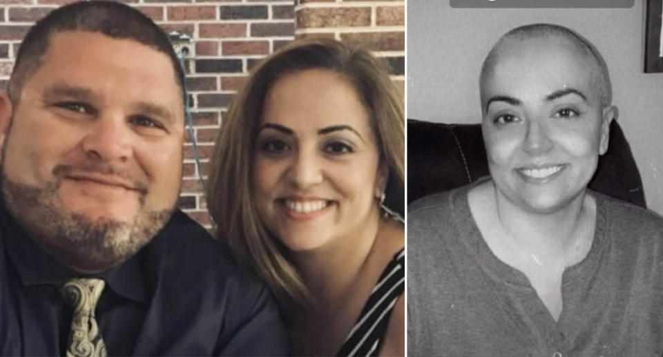 Jason Arena's wife, Marilyn, died from breast cancer after she was discharged early from hospital