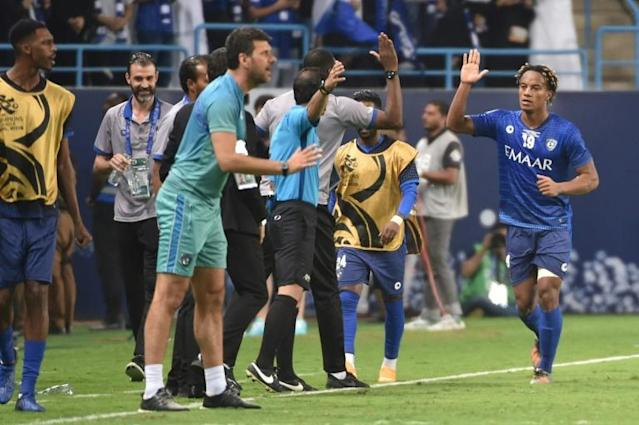 Andre Carrillo joined Al Hilal on a permanent basis this summer having spent a season on-loan from Benfica (AFP Photo/)