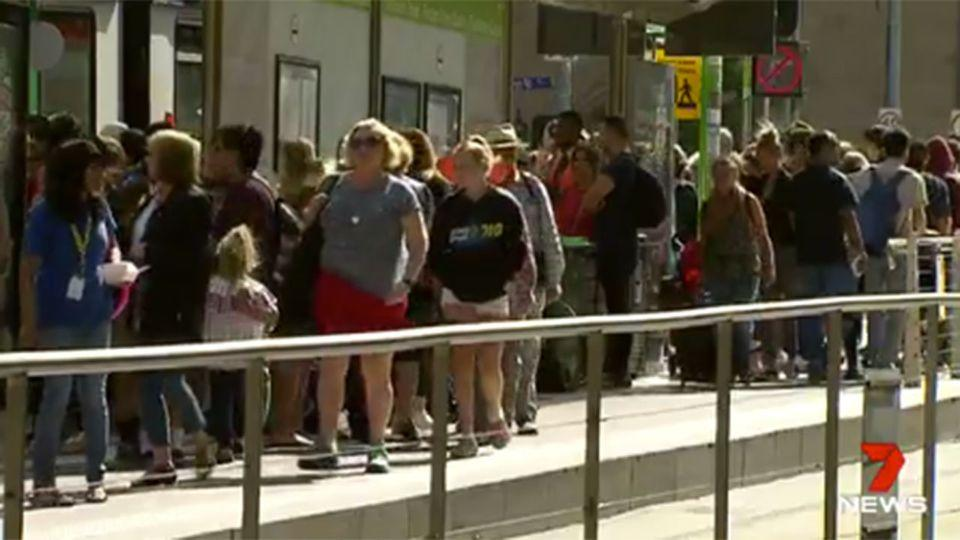 Rough sleepers lash-out with Australian Open tourists just metres away witnessing the events unfold. Source: 7 News