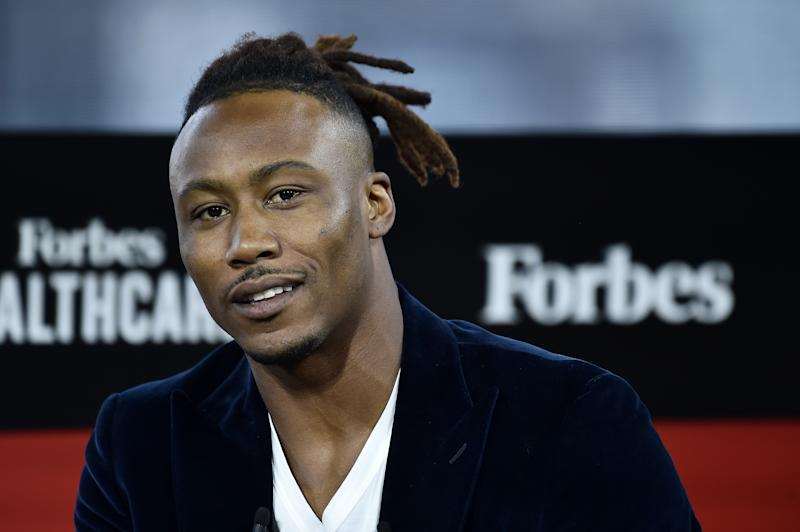 NFL Wide Receiver and Executive Chairman & Co-Founder of Project 375, Brandon Marshall attends 2019 Forbes Healthcare Summit at the Jazz at Lincoln Center on December 05, 2019 in New York City. (Photo by Steven Ferdman/Getty Images)