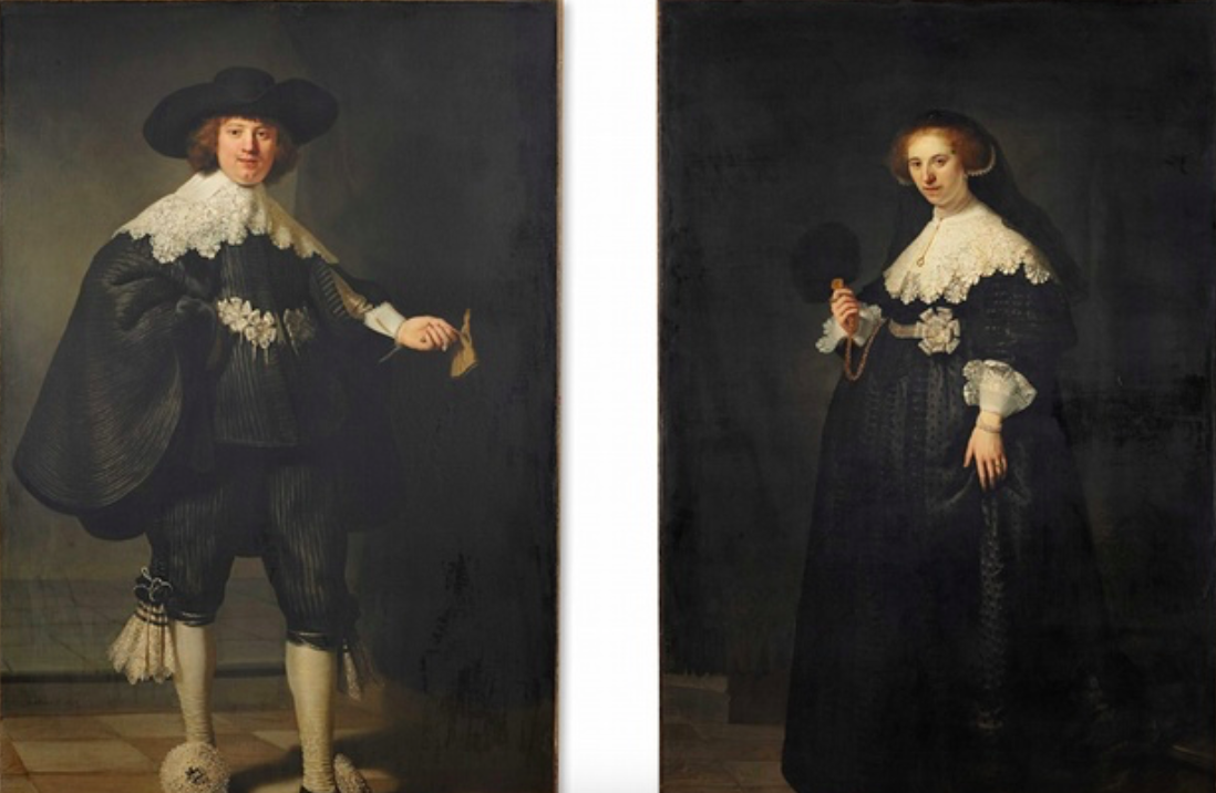 <p>7. Pendant portraits of Maerten Soolmans and Oopjen Coppit – Rembrandt (1634). Sold for: £146.6m. Formerly owned by the Rothschild family, the two paintings became jointly owned by the Louvre Museum and the Rijksmuseum in 2015 with both contributing half of the asking price. (Pic: Wiki Commons) </p>