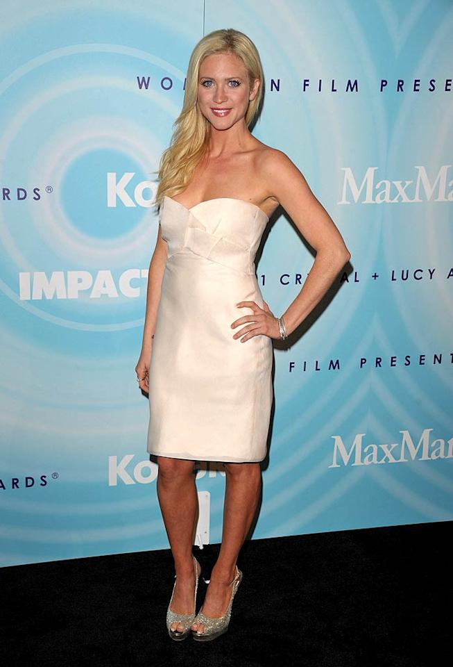 "Actress Brittany Snow -- who recently announced she won't be returning to the NBC drama ""Harry's Law"" when it returns in the fall -- looked like a blond bombshell in an ivory strapless gown and glitzy pumps. John Shearer/<a href=""http://www.gettyimages.com/"" target=""new"">GettyImages.com</a> - June 16, 2011"