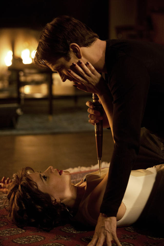 "Stephen Moyer and Valentina Cervi in the ""True Blood"" episode, ""Save Yourself."""