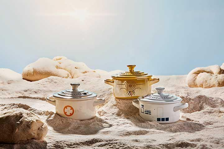 <p>These mini cocottes, some of the more affordable pieces in the collection, are decorated to look like R2-D2, C-3PO, and BB-8. I'll take one of each.</p><p><em></em><strong><em>Price: $30</em></strong></p>