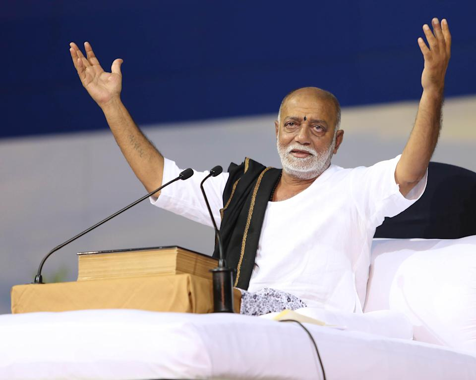 <p>Estimated current net worth: Rs 550 crore ($76 million)<br>Morari Bapu is a renowned exponent of the Ram Charit Manas and has been reciting Ram Kathas for over fifty years throughout the world. Morari Bapu started his career as a primary school teacher in a nearby village to Talgajarda. He worked there for several years, while also doing Ram Kathas. He is married to Narmadaben and has four children. He is perpetually engaged in welfare works and charity causes for humanity. The wealthy Ambanis are among his followers. </p>