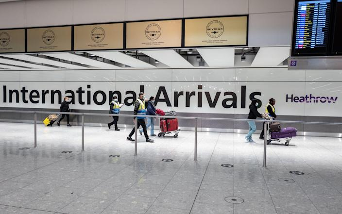 Red list travellers have been queuing alongside arrivals from other countries, with reports that people have been held for up to six hours - Getty