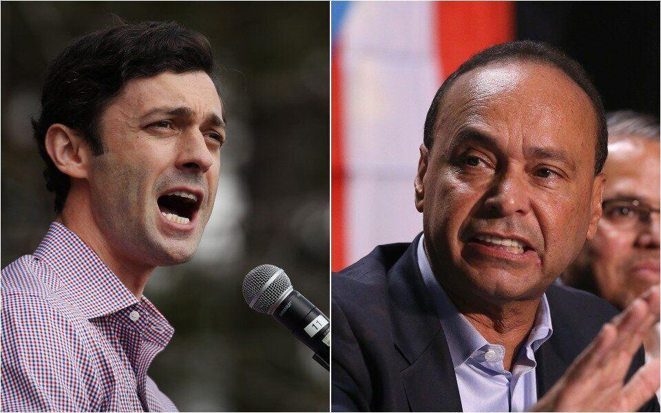 Former Rep. Luis Gutiérrez (D), right, temporarily withdrew his support from Georgia Democrat Jon Ossoff, pending assurances about Puerto Rican self-determination. (Photo: Getty Images)