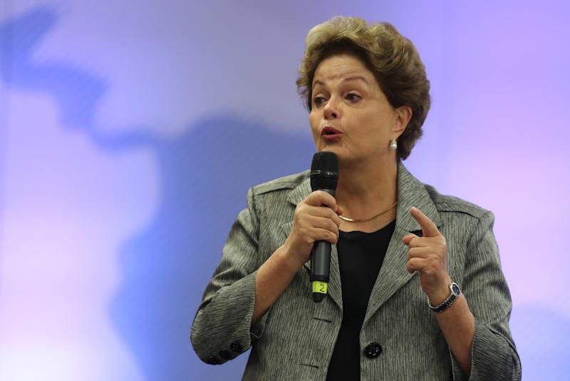Former President of Brazil Dilma Rousseff speaks during the opening of the Grupo de Puebla meeting at the Hotel Emperador, in Buenos Aires, Argentina, November 9, 2019. REUTERS/Agustin Marcarian