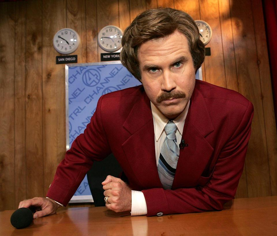 <p>Actor Will Ferrell seriously impressed as Ron Burgundy in his film <em>Anchorman </em>thanks to a signature look that didn't take itself to seriously.</p>