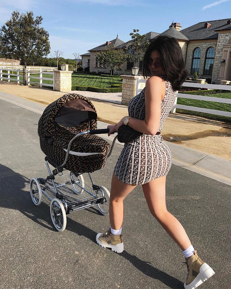 Kylie Jenner Takes Daughter Stormi Out for a Stroll in Fendi Gear