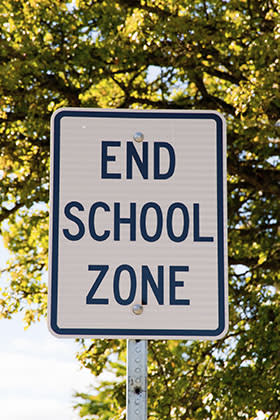 File photo of school road sign (Thinkstock)