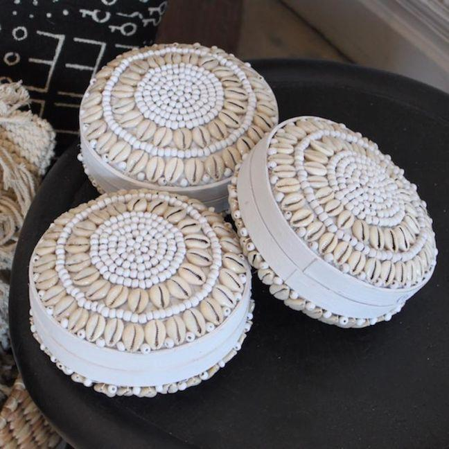 the block shop White Shell Baskets by Raw Decor