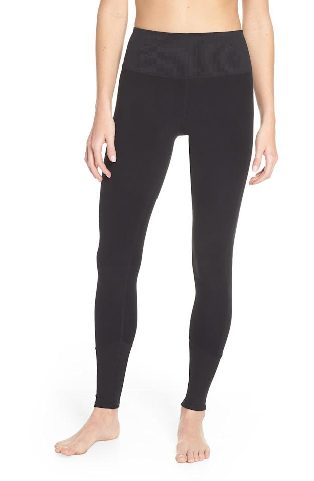 "<p>Stay cozy in these comfortable <a href=""https://www.popsugar.com/buy/Alo-High-Waist-Lounge-Leggings-541304?p_name=Alo%20High%20Waist%20Lounge%20Leggings&retailer=shop.nordstrom.com&pid=541304&price=98&evar1=fit%3Aus&evar9=45667719&evar98=https%3A%2F%2Fwww.popsugar.com%2Fphoto-gallery%2F45667719%2Fimage%2F47118426%2FAlo-High-Waist-Lounge-Leggings&list1=shopping%2Cworkout%20clothes%2Cblack%2Cleggings%2Cathleisure&prop13=api&pdata=1"" rel=""nofollow"" data-shoppable-link=""1"" target=""_blank"" class=""ga-track"" data-ga-category=""Related"" data-ga-label=""https://shop.nordstrom.com/s/alo-high-waist-lounge-leggings/5509881/full?origin=keywordsearch-personalizedsort&amp;breadcrumb=Home%2FAll%20Results&amp;color=black"" data-ga-action=""In-Line Links"">Alo High Waist Lounge Leggings</a> ($98).</p>"