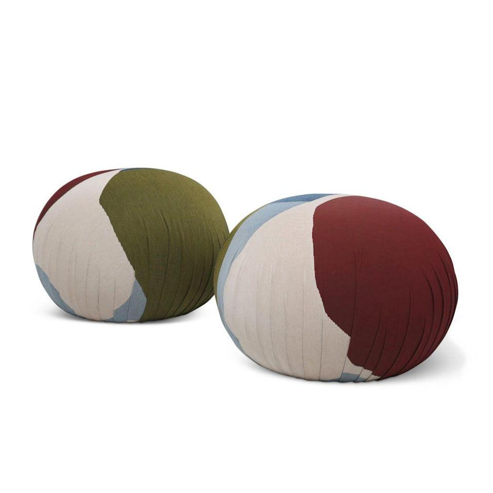 """<p>visoproject.com</p><p><strong>$950.00</strong></p><p><a href=""""https://www.visoproject.com/product/viso-x-love-house-tapestry-ottoman/"""" rel=""""nofollow noopener"""" target=""""_blank"""" data-ylk=""""slk:Shop Now"""" class=""""link rapid-noclick-resp"""">Shop Now</a></p><p>""""Travel to Europe is looking increasingly unlikely this summer—even phrasing it like that is to hope for some kind of Hail Mary from the European Union. Anyway, in lieu of the actual Mediterranean these Ottoman poufs by the Barcelona and New York-based studio Viso Project will take you to the continent, at least in spirit.""""—<em>Erik Maza, Style Features Director</em></p>"""