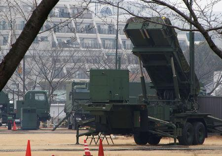 A unit of Patriot Advanced Capability-3 (PAC-3) missiles is seen at the Defense Ministry in Tokyo, Japan, March 6, 2017. REUTERS/Kim Kyung-Hoon