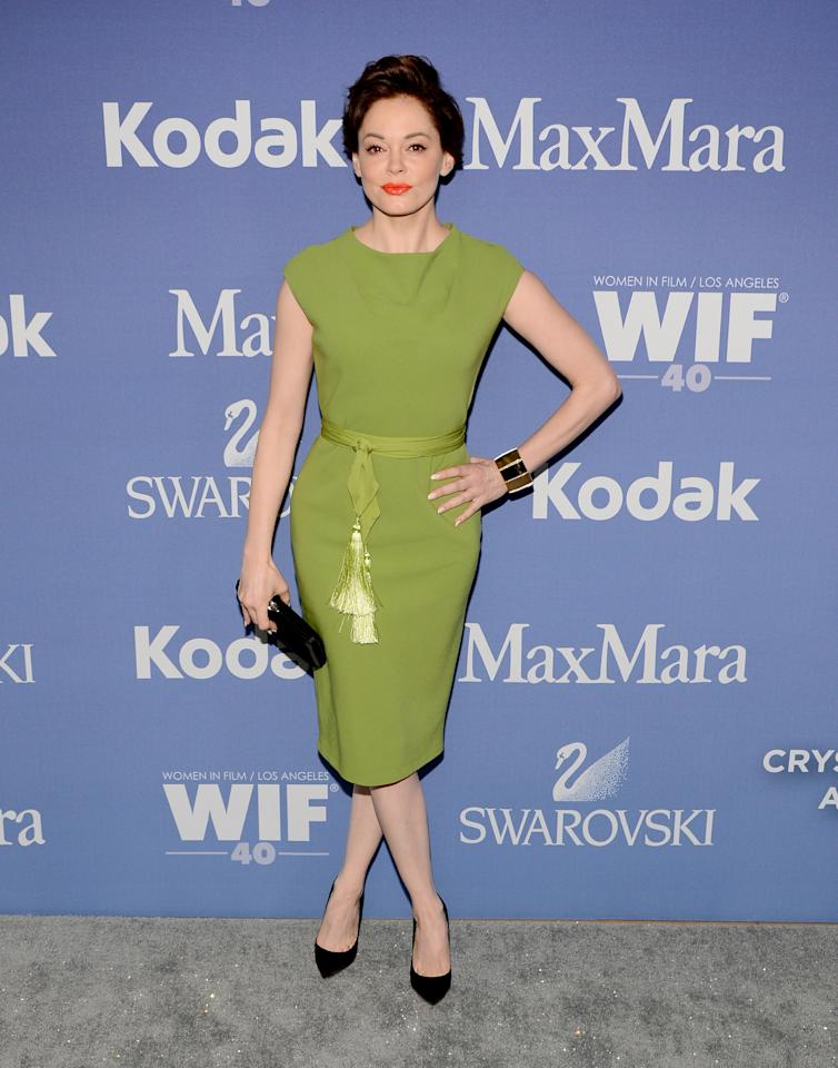 BEVERLY HILLS, CA - JUNE 12: Actress Rose McGowan attends Women In Film's 2013 Crystal + Lucy Awards at The Beverly Hilton Hotel on June 12, 2013 in Beverly Hills, California. (Photo by Mark Davis/Getty Images for Women In Film)