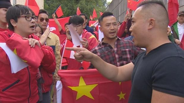 Protesters, counterprotesters take to Boston streets over Hong Kong tensions