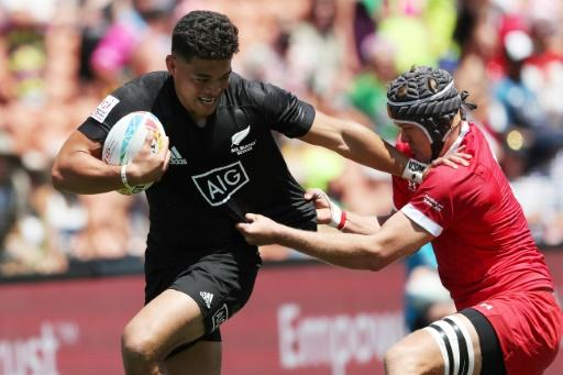 New Zealand opened their campaign with a 47-0 romp against Wales, finished the day with a 26-5 victory over the highly rated USA side in Pool A