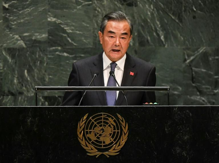 """The lessons of the Great Depression should not be forgotten,"" China's Foreign Minister Wang Yi told the UN General Assembly"