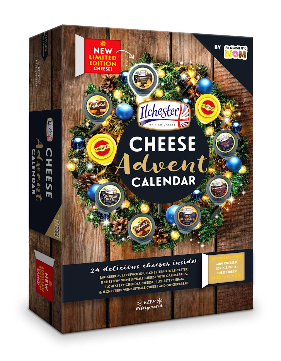 The Ilchester cheese advent calendar will be available in Sainsbury's from November 14 [Photo: So Wrong It's Nom]