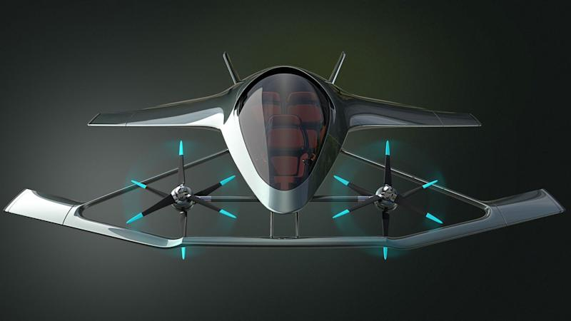 Aston Martin unveils a hybrid-electric flying vehicle at Farnborough Airshow