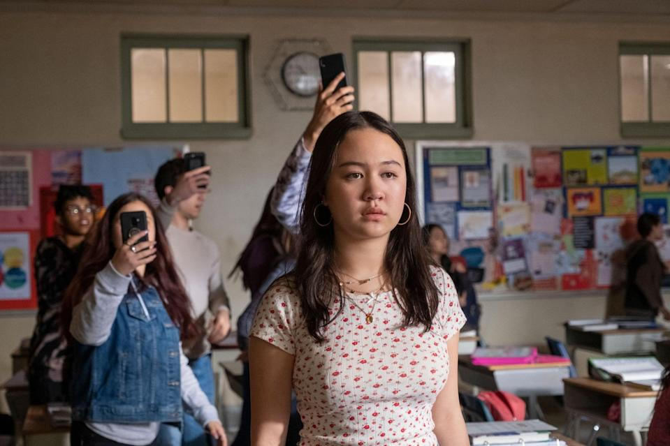 """<p>At a large public high school in Brooklyn, five students encounter a series of events that turn their social and personal lives upside down. </p> <p>Watch <a href=""""https://www.netflix.com/title/80211686"""" class=""""link rapid-noclick-resp"""" rel=""""nofollow noopener"""" target=""""_blank"""" data-ylk=""""slk:Grand Army""""><strong>Grand Army</strong></a> on Netflix now.</p>"""