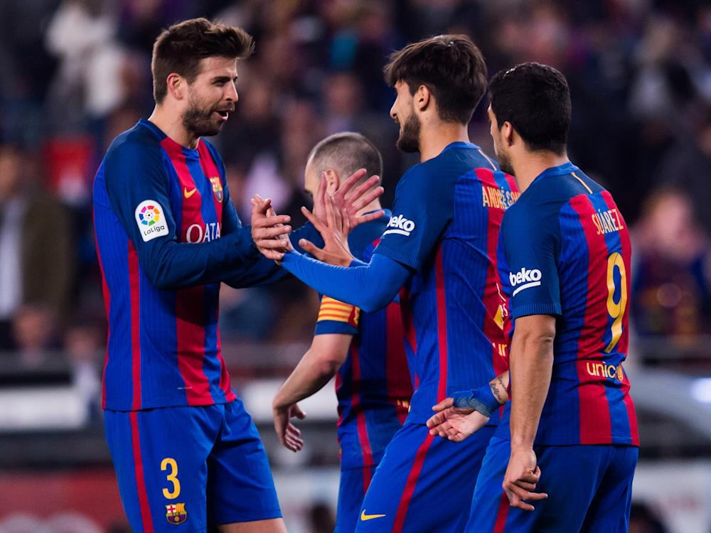 Barcelona are yet to concede a penalty or have a player sent off in La Liga this season: Getty