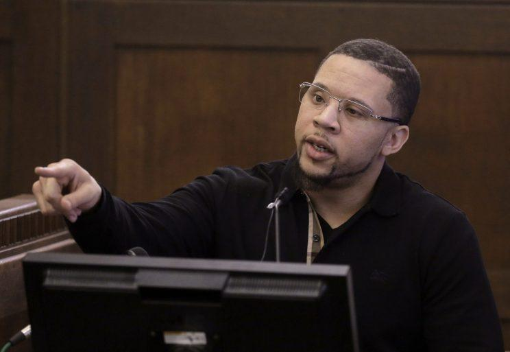 Alexander Bradley testified that Aaron Hernandez once shot him in the face, resulting in the loss of an eye. (AP)