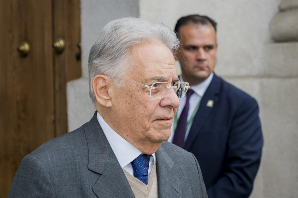 SANTIAGO, CHILE – SEPTEMBER 24: Former President of Brazil Fernando Henrique Cardoso looks on after a meeting with President of Chile Sebastián Piñera at Palacio de La Moneda on September 24, 2018 in Santiago, Chile. (Photo by Sebastián Vivallo Oñate/Agencia Makro/Getty Images)