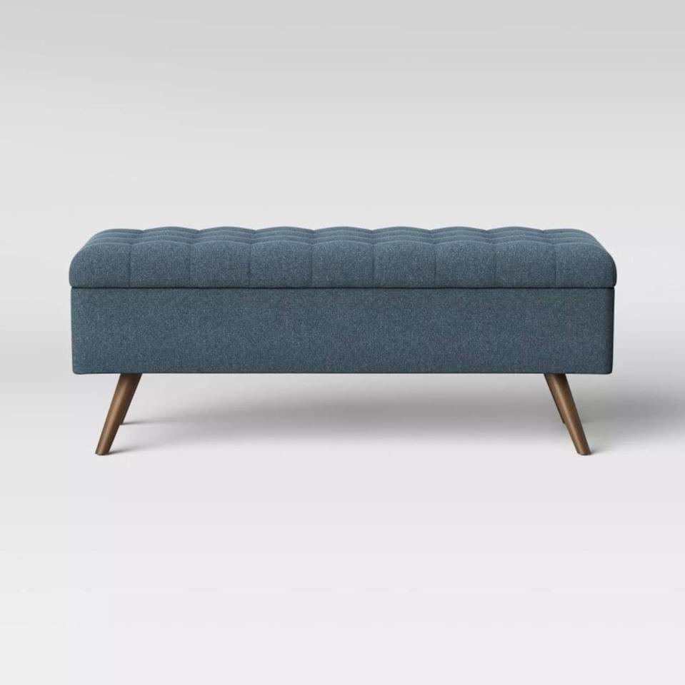 <p>Place this <span>Project 62 Arthur Tufted Storage Bench</span> ($180) at the end of your bed.</p>