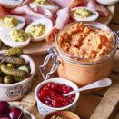 """<p>Aleppo pepper, a mild and fruity chile, is unusual yet a good fit for pimiento cheese in this easy twist on the classic Southern cheese dip. Ancho chile or even hot sauce works as well. <a href=""""http://www.eatingwell.com/recipe/273390/pimiento-cheese-dip/"""" rel=""""nofollow noopener"""" target=""""_blank"""" data-ylk=""""slk:View recipe"""" class=""""link rapid-noclick-resp""""> View recipe </a></p>"""