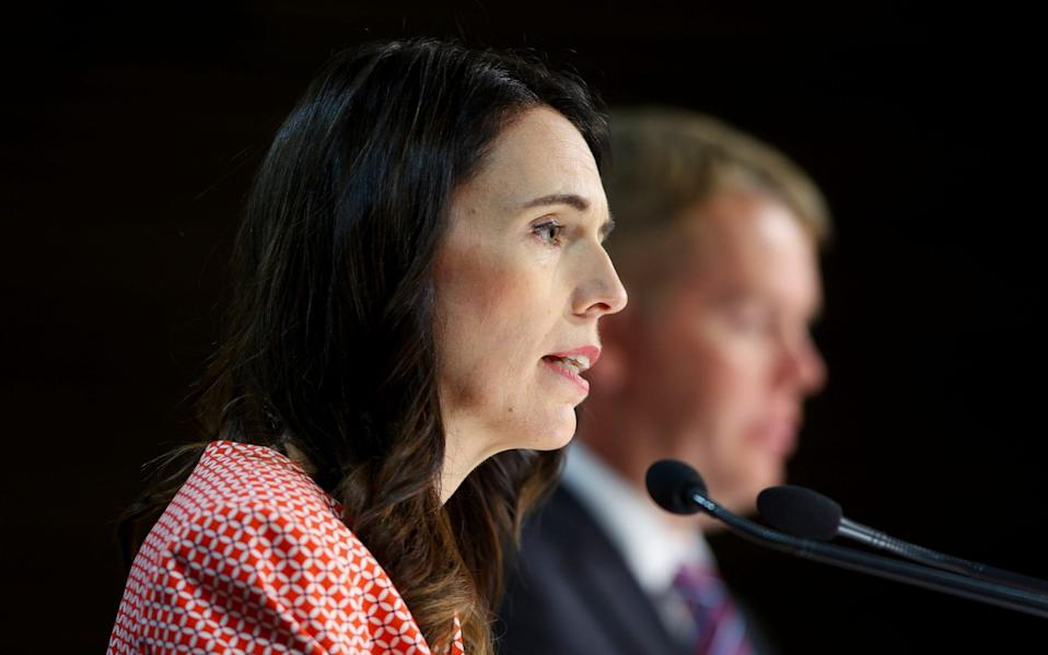 Jacinda Ardern said the government would not re-open its borders while the pandemic was still raging worldwide - Getty