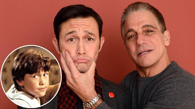 Joseph Gordon-Levitt (also inset from 'Angels in the Outfield') and Tony Danza pose at this year's Sundance Film Festival