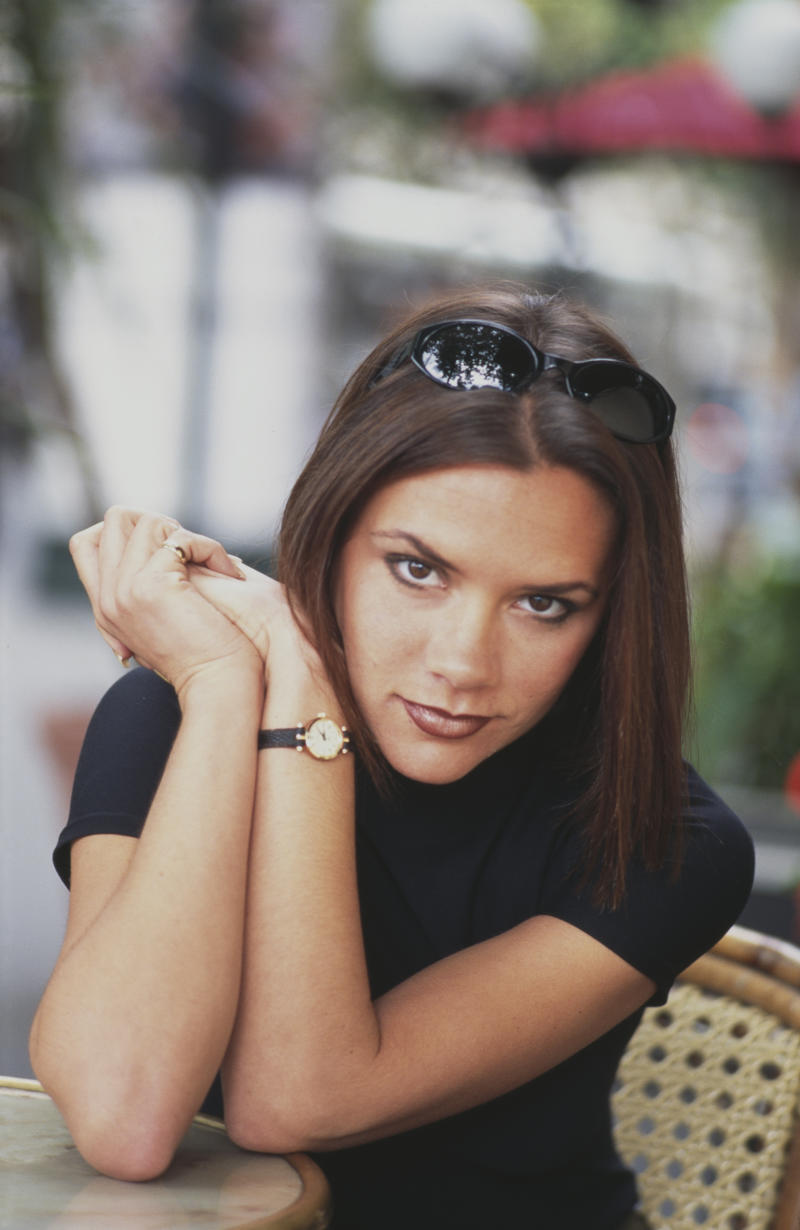 British singer, fashion designer and businesswoman Victoria Beckham, 'Posh Spice', of girl group the Spice Girls, Paris, 1996. (Photo by Tim Roney/Getty Images)