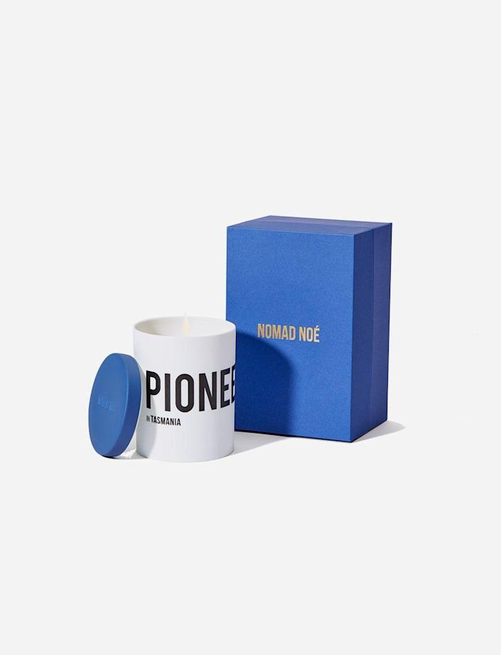 """<p><strong>PIONEER-</strong></p><p>giftmechic.com</p><p><strong>$65.00</strong></p><p><a href=""""https://giftmechic.com/products/pioneer-in-tasmania"""" rel=""""nofollow noopener"""" target=""""_blank"""" data-ylk=""""slk:Shop Now"""" class=""""link rapid-noclick-resp"""">Shop Now</a></p><p>""""I'm a firm believer in the healing powers of candles–just kidding. I just adhere to the notion that they set the mood for a zen and quiet personal environment. Lately, I've been using this one from the Grasse-based label Nomad Noé , which makes a series inspired by iconoclasts from history. Mine, gifted by a perceptive friend, is called Pioneer, named after the famous 19th century explorer James Holman, who overcame huge adversities—he was called the """"Blind Traveler""""—to trek the world, which, to be fair to my friend, sounds like something I would totally do. Touché, Sam, touché.""""—<em>Erik Maza, Style Features Director</em></p>"""