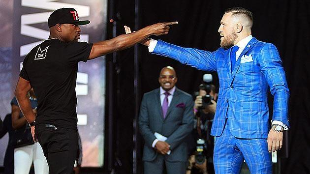 Mayweather goaded McGregor into betting his fight cheque. Pic: Getty