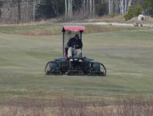 Golf courses, like Timberwolf Golf Course in Sudbury, must still maintain their properties, even while closed during the enhanced stay-at-home order in Ontario.