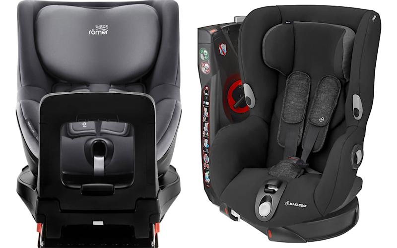 Popular car seat choices among parents include the Britax Römer and the Maxi Cosi
